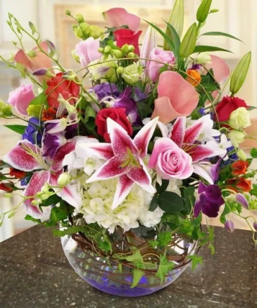 Bright Bowl of Brilliance Arrangement