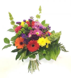 Bright & Cheerful Handtie in Invermere, BC | INSPIRE FLORAL BOUTIQUE