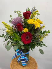 Bright & Cheery Bouquet Vase Arrangement