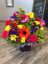 Bright, Colorful, Fun!  Cube Arrangement