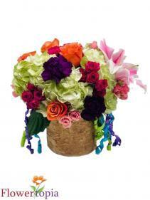 Bright Day Birthday Flower Arrangement