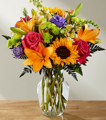 bright day vase arrangement