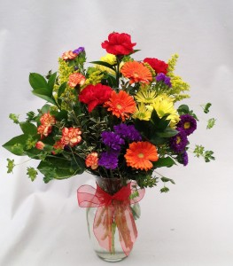 Bright Delight Vase Arrangement in Milwaukie, OR | Mary Jean's Flowers by Poppies & Paisley