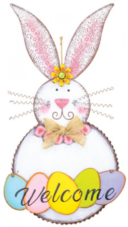 BRIGHT EGG BUNNY WELCOME HANGER