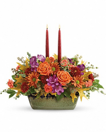 Bright Fall Florial Centerpiece
