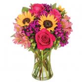 Bright Floral Garden Vase Arrangement