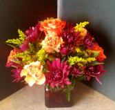 Bright Flowers Vase
