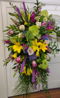 Bright Garden Gathering Funeral Spray