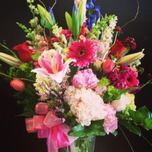 Bright garden mixed bouquet