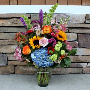 Bright Garden Vase Garden Flower Arrangement in Woodinville, WA | Woodinville Florist®