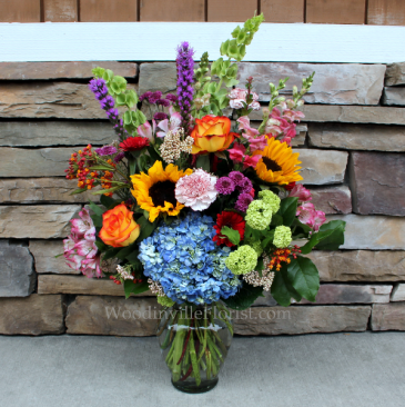 Bright Garden Vase Garden Flower Arrangement