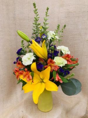 Bright Gardens Fresh Vase Arrangement in Coleman, WI | COLEMAN FLORAL & GREENHOUSES