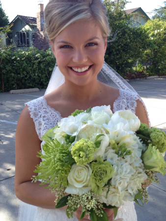 Bright Green & White Bouquet Brides Bouquet