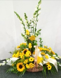 Bright Memory Basket Arrangement