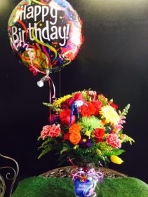 BRIGHT MIXED BIRTHDAY BOUQUET