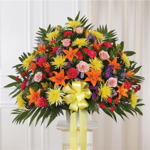 Bright Multi color Standing Basket