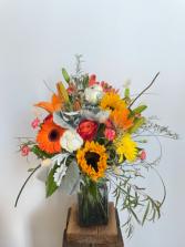 Bright orange arrangement