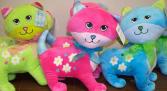 Bright Plush Cats