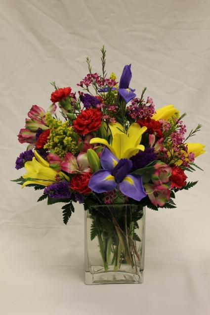 Bright Rectangle Vase Arrangement