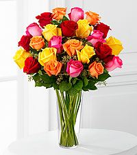 12, 18 or 24 Bright Rose Bouquet Rose Arrangement