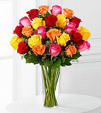 12, 18 or 24 Bright Rose Bouquet Rose Arrangement