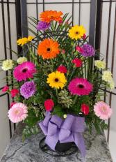 Bright Spring  Basket Arrangement