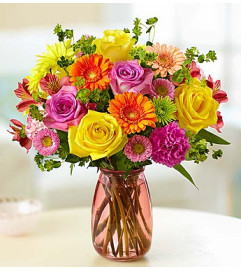 BRIGHT SPRING DAY Vase Arrangement in Longview, TX | ANN'S PETALS
