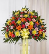 Bright Standing Basket Sympathy Arrangements