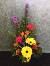 Bright Sun Shiny Day Dish Arrangement in Calgary, Alberta | FIRST CLASS FLOWERS LTD.