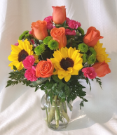 Bright Sunflower Sensation Vase