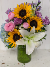 Bright Sunflowers Fresh Arrangements