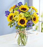 SUNFLOWERS AND SUNSHINE Vase Arrangement