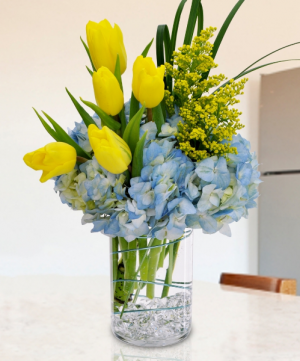 BRIGHT SUNSHINE Vase Arrangement in Longview, TX | ANN'S PETALS
