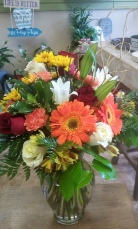 Bright Sunshiny Day Vase in Venice, FL | ALWAYS AN OCCASION FLORIST & DECOR