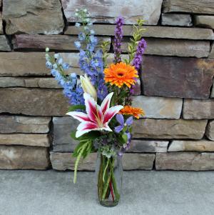 Bright Trio Vase Summer Garden Flowers in Woodinville, WA | Woodinville Florist®
