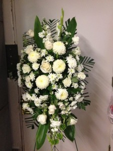 Bright White  Funeral Stand