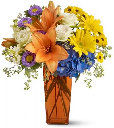 Bright Wishes All-Around Floral Arrangement