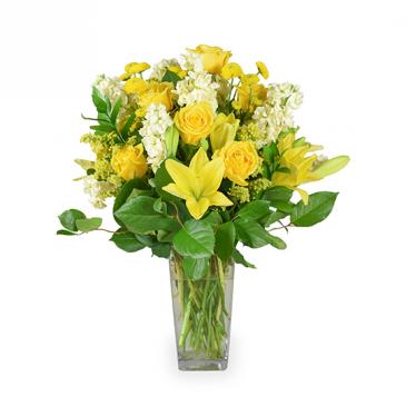 BRIGHT WISHES floral arrangement