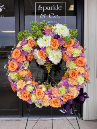Bright Wreath Funeral Wreath