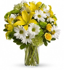 Bright & Yellow Floral Bouquet in Whitesboro, NY | KOWALSKI FLOWERS INC.