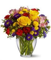 Brighten Your Day Fresh Flower Arrangement