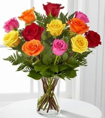 Brighten Any Day Mixed Rose Bouquet