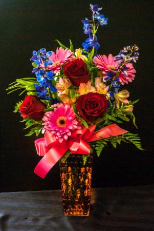 Brighten Her Day Mixed floral arrangement