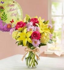 Brighten Mom's Day Fresh Vased