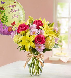 Brighten Mom's Day Fresh Vased