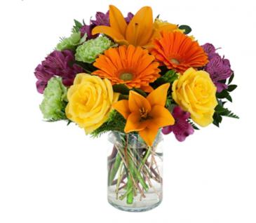 Brighten up your day bouquet  Vase