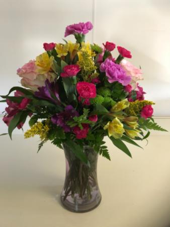 Brighten Your Day Bouquet Fresh vased