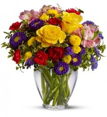 Brighten Your Day Vased Bouquet