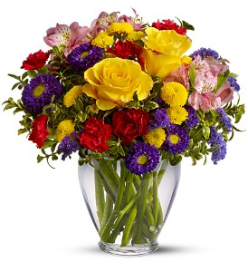 Brighten Your Day Vased Bouquet in White Oak, PA | Breitinger's Flowers