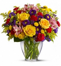 Brighten Your Day             TF107-1 vase arrangement